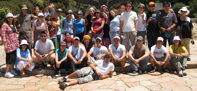 Kibbutz Volunteers on a trip to Jerusalem
