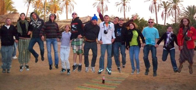 Tikkun Olam (Service the World) iTrack Israel Exprience participants on a trip in the Arava Desert