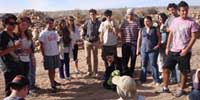 iTrack participants in the Negev on a trip.